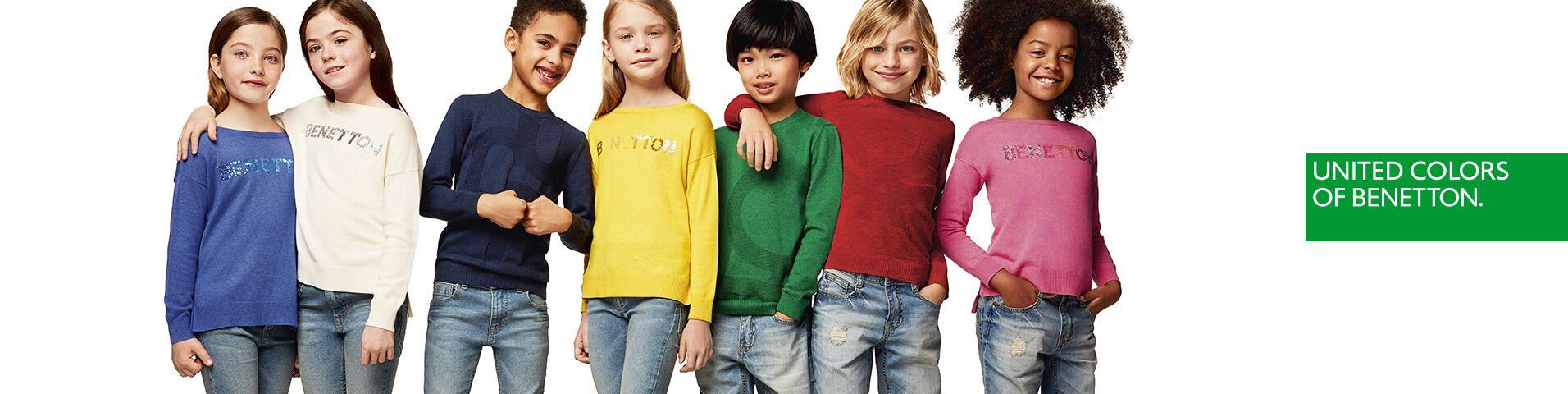 benetton kinder langarmshirts von top marken gro e auswahl