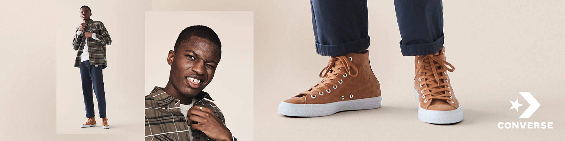 converse brown uomo